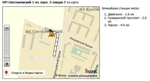 Студия в ЖК up! Светлановский, Воронцовский бульвар д. 5 - Фото 4