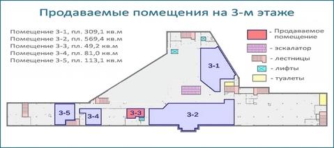 Помещение 49,2 кв.м в тоц в центре Красногорска, 6 км от МКАД - Фото 5