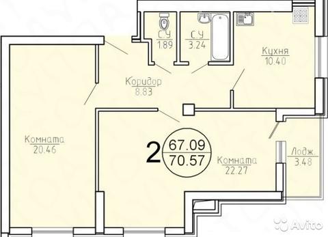 Двух комнатная в новом доме у Космопорта - Фото 1