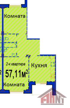 Продажа квартиры, Портянниково, Псковский район, Окольная улица - Фото 2