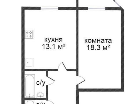 Продажа однокомнатной квартиры на улице Кубяка, 9к5 в Калуге, Купить квартиру в Калуге по недорогой цене, ID объекта - 319812460 - Фото 1