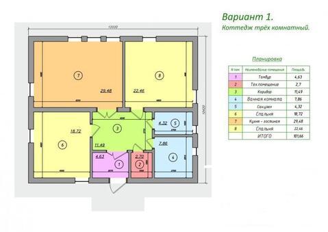 Продам дом 102,1 кв.м, с. Краснореченское, Объездная на Заимку - Фото 2