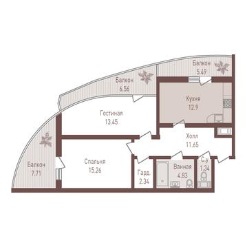 Двухкомнатная квартира в новостройке 3 минуты от ст. м. Удельная - Фото 3