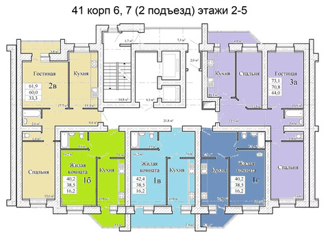 Объявление №50617562: Квартира 3 комн. Тамбов, ул. Магистральная, стр. 41, корп. 6,