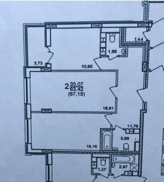 2 850 000 Руб., Квартира в новостройке, Продажа квартир в Смоленске, ID объекта - 326169975 - Фото 1
