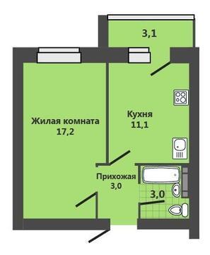 Продается 1 комнатная квартира, 37 кв.м. ул.Ерохина, г Ставрополь
