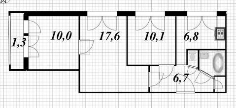 Продажа 3-х комнатной квартиры на ул.Турку д.9 к.2 - Фото 3