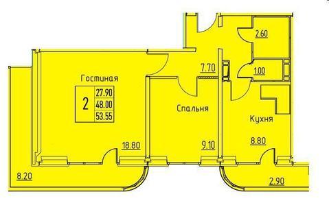 2-х ком. кв, ул.Ракитная, д. 42 - Фото 3