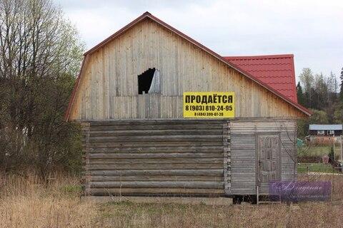 Продается бревенчатый дом в д. Орехово, Жуковский район - Фото 1