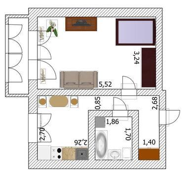 1-к квартира ул. Челюскинцев, 76 - Фото 2