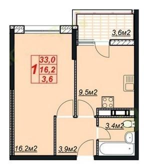 1 550 000 Руб., 1-к. квартира 36.6 кв.м, 8/13, Купить квартиру в Анапе по недорогой цене, ID объекта - 329824110 - Фото 1