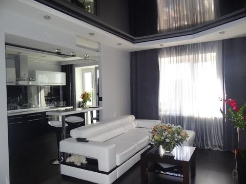 Дорогая стильная квартира-студия с дизайнерским ремонтом. джакузи 600л - Фото 2