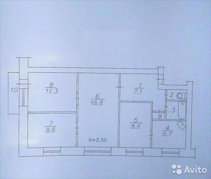 4-к квартира, 62 м, 3/5 эт.