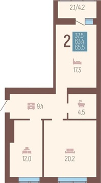 Продажа квартиры, Калининград, Юбилейная улица - Фото 1