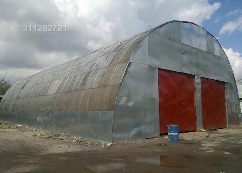 Ангар 500 м2, можно пополам, холодный, территория офисно-складского ко - Фото 1