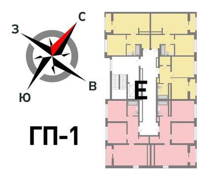 Продажа двухкомнатная квартира 62.61м2 в ЖК Солнечный гп-1, секция е - Фото 2