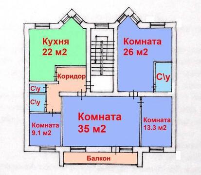 "Продам 4-х ком. квартиру по ул.Губкина 18 ""а"" - Фото 1"