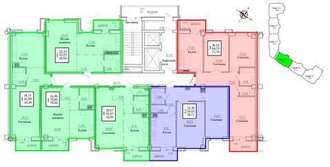 Продажа трехкомнатная квартира 72.13м2 в ЖК Рудный секция 1.4 - Фото 2