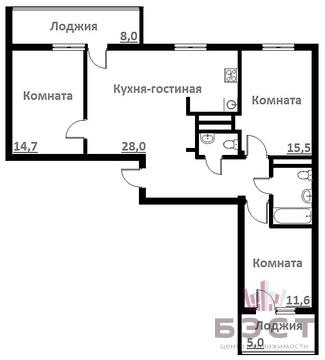 Объявление №50949986: Продаю 3 комн. квартиру. Екатеринбург, ул. Громова, 28,