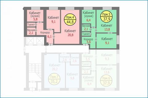 Блок квартир-апартаментов общей площадью 82,7 кв.м. Свободная продажа - Фото 3