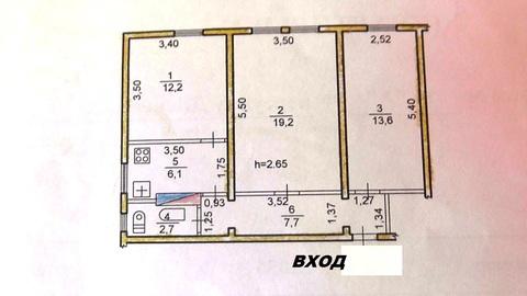 Продам трёхкомнатную квартиру, пер. Дежнёва, 14а - Фото 2
