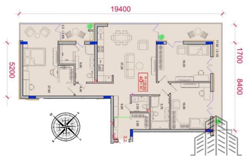 Эксклюзивная 3-комнатная квартира с панорамным остеклением элиткласса - Фото 2