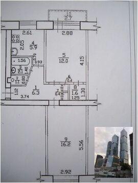 Новинское ш 10 Продается двухкомнатная квартира(распашонка), - Фото 1