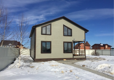 Новый дом, 150 кв.м, г. Чехов, черта города - Фото 1