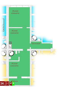 Продажа трехкомнатные апартаменты 73.3м2 в ЖК Олимп - Фото 1