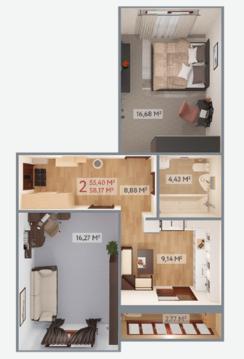 Продается 2-х комнатная квартира в кирпичном доме! - Фото 4