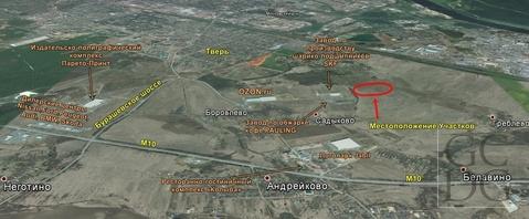 Продается участок 6,6га около промзоны Боровлево и д.Греблево в Твери - Фото 3