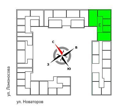 Продажа двухкомнатная квартира 61.30м2 в ЖК Квартал Новаторов секция е - Фото 2