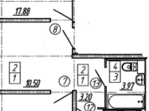 Продажа двухкомнатной квартиры в новостройке на улице Артамонова, 34 в ., Купить квартиру в Воронеже по недорогой цене, ID объекта - 320571932 - Фото 1