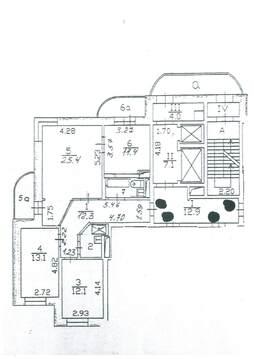 3-комнатная квартира в монолитно-кирпичном доме в Мытищах - Фото 4