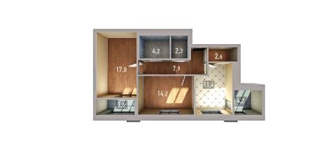 Двухкомнатная квартира в комплексе «Венский лес» - Фото 1