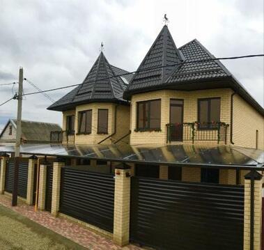 Коттедж 180 м2 с баней на участке в Краснодаре - Фото 1