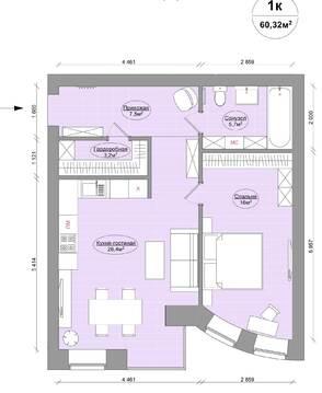 Квартира в новом доме бизнес класса на берегу р. Волги - Фото 3