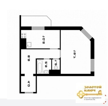 Продам 1-к квартиру, Одинцово г, улица Маковского 26 - Фото 2