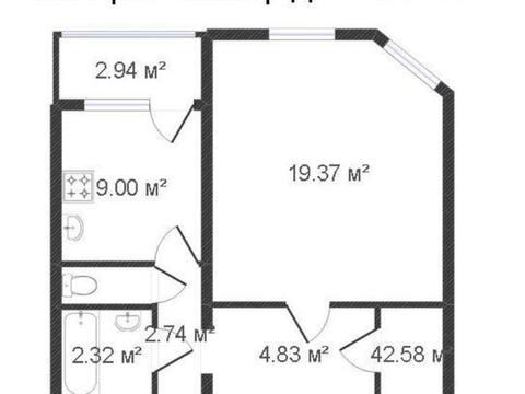 Продажа однокомнатной квартиры на Хрустальной улице, 44к2 в Калуге, Купить квартиру в Калуге по недорогой цене, ID объекта - 319812801 - Фото 1
