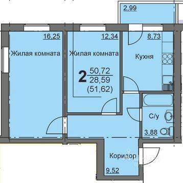 Студия Курганская область, Курган 16-й мкр, 11 (39.2 м) - Фото 1