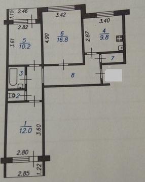 Продам 3-х комнатную на Текстильщиков