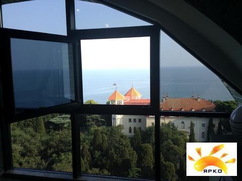 Квартира с видом на море в Ялте 32.6м2 ремонт и мебель люкс - Фото 1