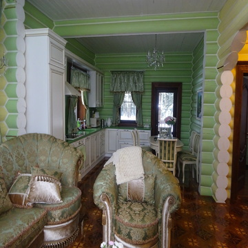 Дом из оцилиндрованного бревна 183 кв.м. с участком 15 соток. - Фото 1