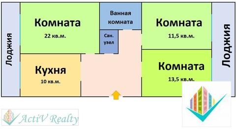 17 500 000 Руб., Большая просторная 3-х комнатная квартира с изолированными комнатами, Продажа квартир в Москве, ID объекта - 333379082 - Фото 1