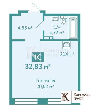 Объявление №65279646: Продаю 1 комн. квартиру. Тюмень, улица Павла Никольского, 4,