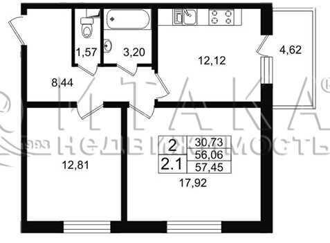 Объявление №49850792: Квартира 2 комн. Санкт-Петербург, Народного ополчения пр-кт., д. 149,