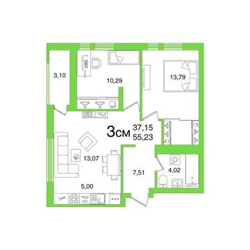 Объявление №49366527: Квартира 3 комн. Уфа, жилой комплекс Смарт Плаза,