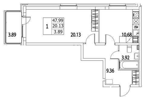 Продам 1к. квартиру. Приморский пр-кт, д.52 Т к.2-3, Купить квартиру в Санкт-Петербурге по недорогой цене, ID объекта - 318024470 - Фото 1