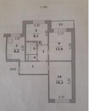 Продам дешево 3 х комнатную квартиру на харьковской горе - Фото 1