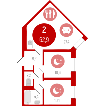 Продажа квартиры, Тюмень, Тихий, Купить квартиру в Тюмени по недорогой цене, ID объекта - 315623060 - Фото 1